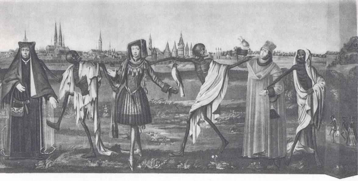 Μακάβριος χορός με τη συμμετοχή γυναικών και ευγενών.